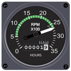Compte-tour à 2700 tr/min