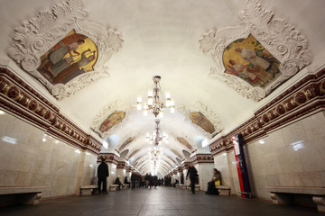 national architecture monument - Moscow metro station