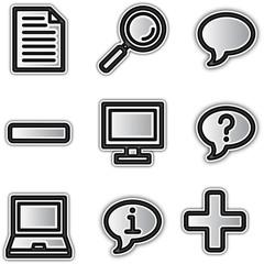 Web icons silver contour misc