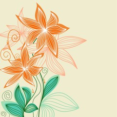 Tuinposter Abstract bloemen Floral background for greeting card