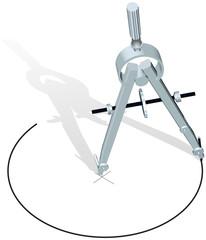 Drafting compass drawing plan design circle