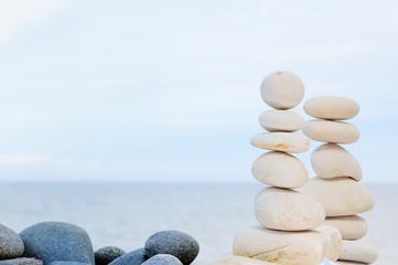 Pebbles on seacoast