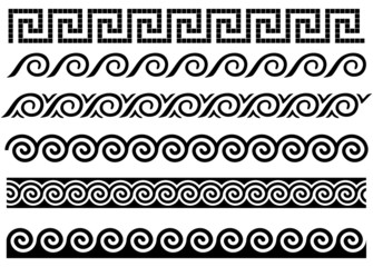 Meander and wave. Ancient Greek ornament.