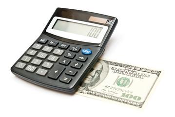 Calculator and 100 dollars