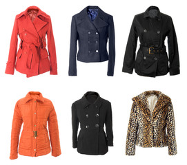 Female winter jackets collection #2 | Isolated