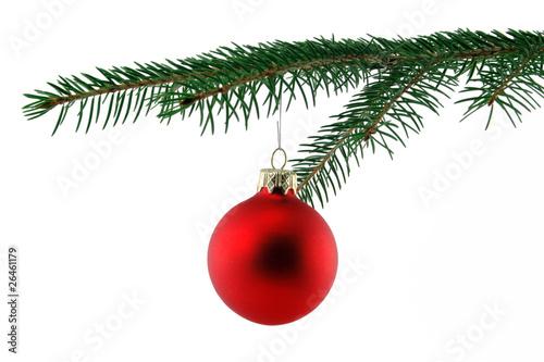 weihnachtskugel an tannenast stockfotos und lizenzfreie bilder auf bild 26461179. Black Bedroom Furniture Sets. Home Design Ideas