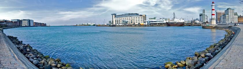 Panorama du port de Malmö en Suède