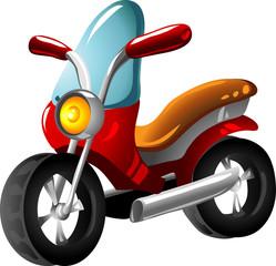 Keuken foto achterwand Motorfiets Cartoon motorcycle