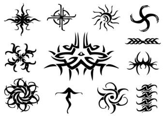 tattoo illustration set (vector)