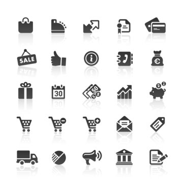 Black Web  Icons -  Shopping & E-Commerce