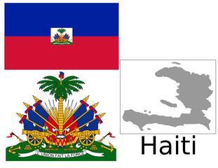 Haiti flag national emblem map
