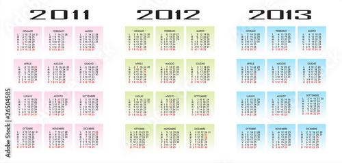 2011 Calendario.Calendario 2011 2012 2013 Verticale Stock Image And Royalty
