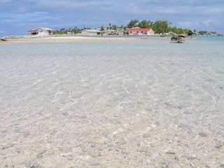 Playa en Tuamotu, Polinesia