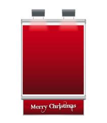Cartello Natale Rosso
