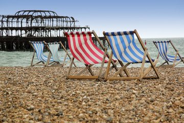 brighton beach deckchairs west pier