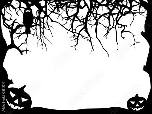 Halloween Hintergrund - Silhouette\