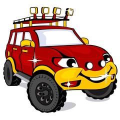 Cartoon the off-road car