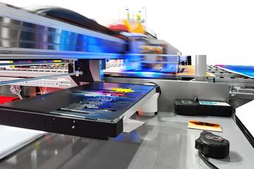 Working industrial large format UV inkjet printer