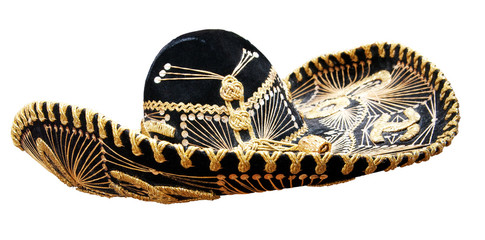 Vintage Mexican Sombrero. Clipping path incl.