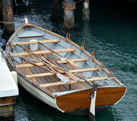 A Wooden Rowboat