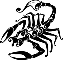 Astrology sign - scorpio. Vector zodiac