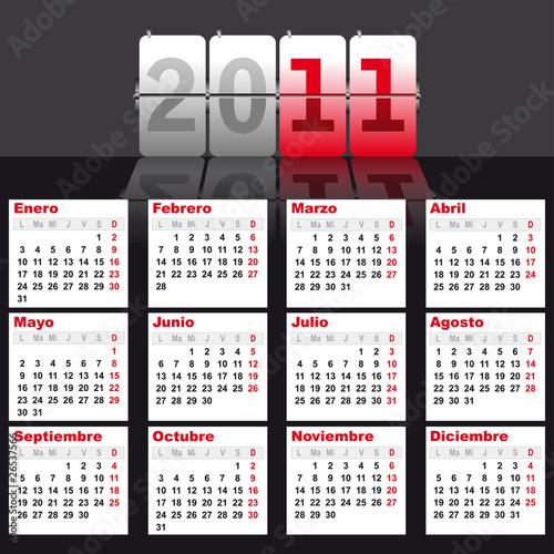 2011 Calendario.Calendario 2011 Espanol Stock Image And Royalty Free Vector