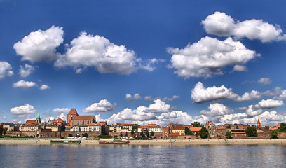 Panorama of Toruń (Poland)