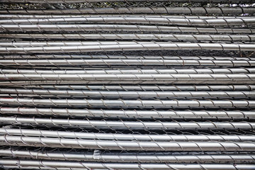 stack of portable chain link fence pieces