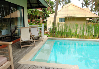 Swimming pool at the luxury villa, Phuket, Thailand
