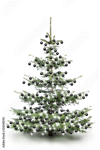 weihnachtsbaum mit schwarzen kugeln stockfotos und. Black Bedroom Furniture Sets. Home Design Ideas