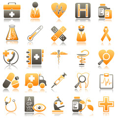 medicine Orange Icons