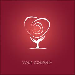 logo entreprise, arbre, coeur