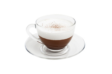 cappuccino cup  isolated on a white background