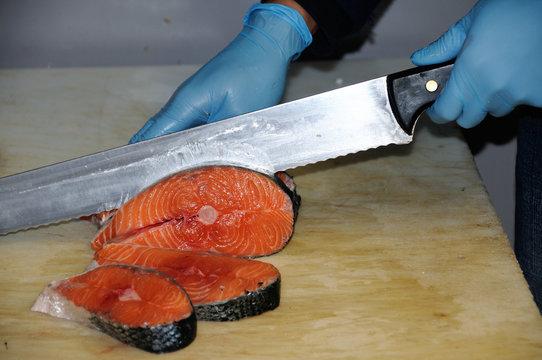 steak of salmon