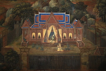 Mural in Temple of the Emerald Buddha