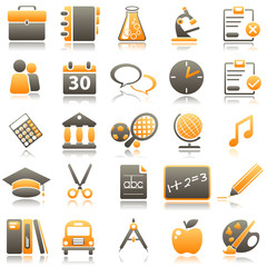 school Orange Icons
