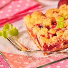 Saftiger Pflaumenkuchen mit Streusel