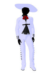 African American Mariachi Silhouette Illustration