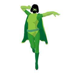 Super Heroine Illustration Silhouette