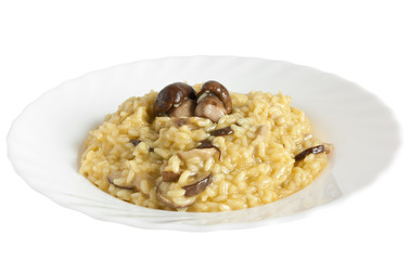 risotto with mushrooms - risotto con funghi porcini