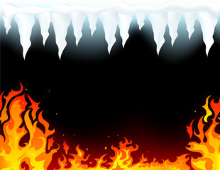 Wall Mural - Fire and ice