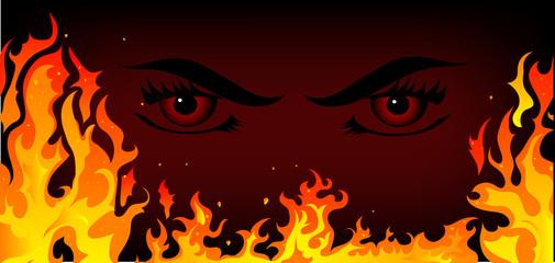 Fototapete - Fire background