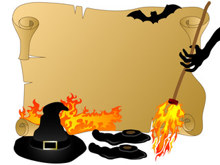 Wall Mural - Halloween parchment