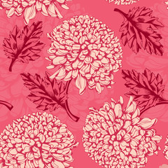 Excellent seamless pattern with chrysanthemum