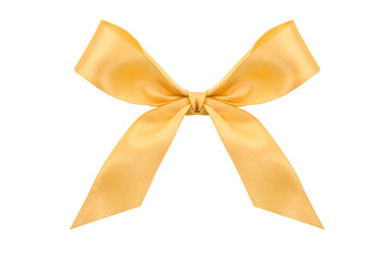 Gold satin bow