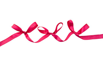 red bows isolated on a white background with clipping path.