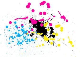 Tâches de peinture en CMJN