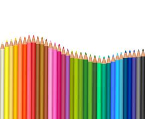 Colored pencils. Vector.
