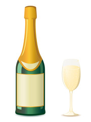champagne vector illustration