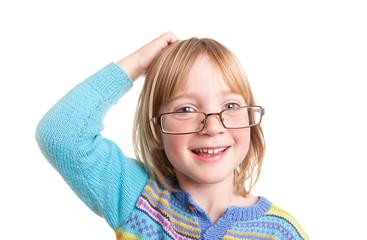 thinking child glasses
